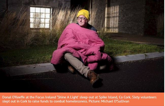 Cast out for a night: A sleep-out on Cork's Spike Island shines a ghostly light on homelessness crisis
