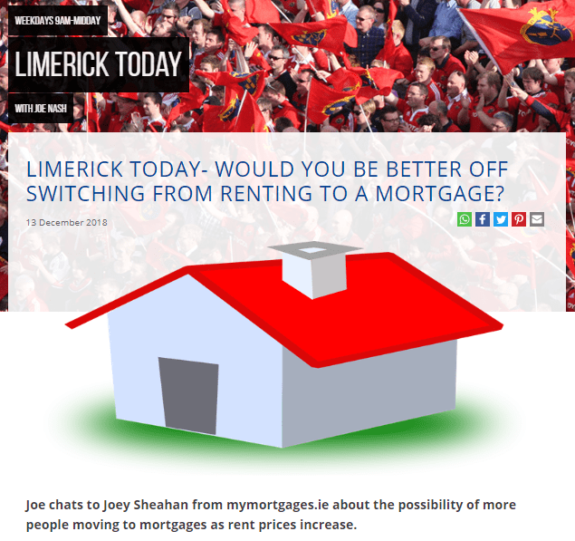 Limerick Live 95FM – Would you be better off switching from renting to mortgage?