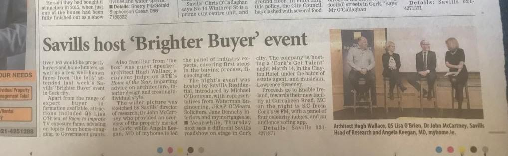 The Irish Examiner: Savills Host 'Brighter Buyer' Event